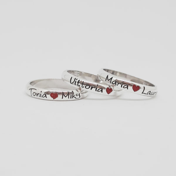 """Fedina """"heart"""" cuore rosso personalizzata"""