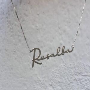 Collana Nome Personalizzabile (Modello Firma)